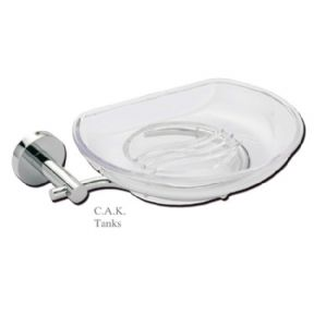 MARIN SOAP DISH AND HOLDER - CHROME
